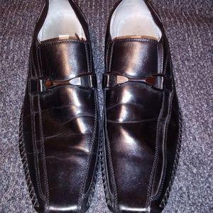 Steve Madden Black Dress Shoes Buckle Size 10